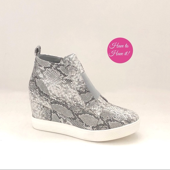 CCOCCI Shoes   Zoey Snake Print Wedge